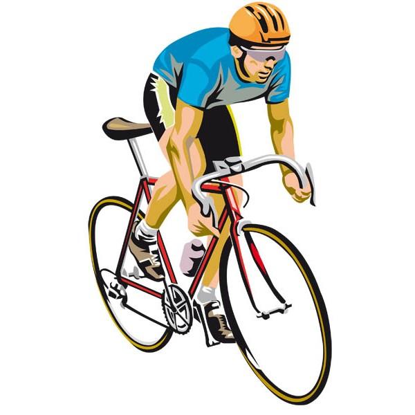ciclista colorato
